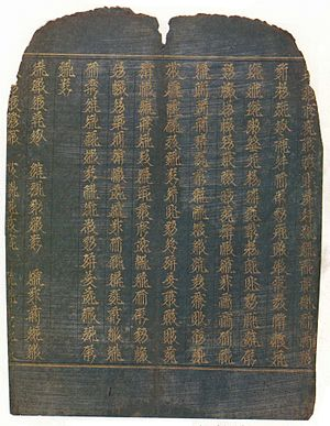 Tangut people - The Golden Light Sutra written in the Tangut script