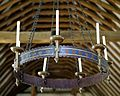 Church of St Mary Magdalen Laver Essex England - candle chandelier.jpg