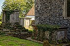 Church of St Mary the Virgin, Woodnesborough, Kent - churchyard table tombs.jpg