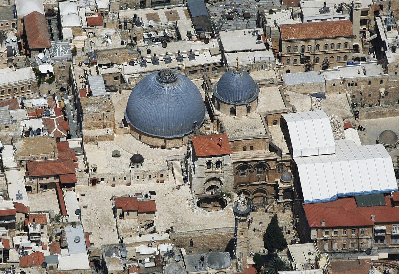 Die Grabeskirche in Jerusalem - vergrößerbar