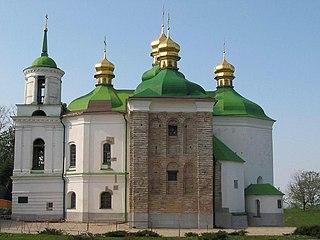 Church of the Saviour at Berestove church building in Kiev, Ukraine