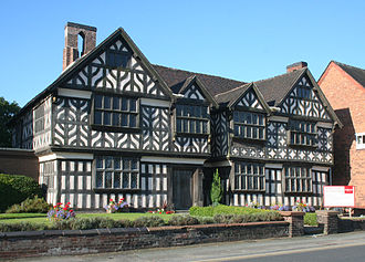 Nantwich - Churche's Mansion, one of the few buildings in Nantwich to survive the fire of 1583