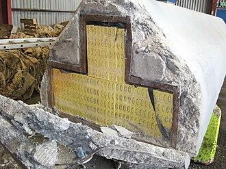 Illicit cigarette trade - Cigarettes found hidden in concrete blocks
