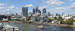 City of London skyline from London City Hall - Sept 2015.jpg