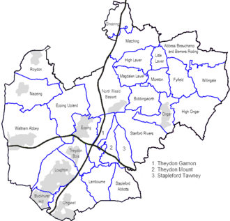 Epping Forest District - Civil parishes in Epping Forest District. The forest itself today spans from Epping Upland to the Greater London border