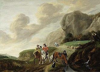Claes van Beresteyn - Falcon hunt
