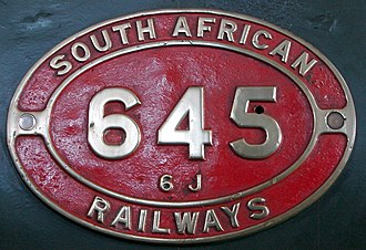 South African Class 6J 4-6-0 - Image: Class 6J 645 (4 6 0) IDR