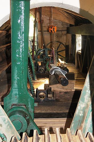 Claverton Pumping Station - Gearing and the sluice cranks