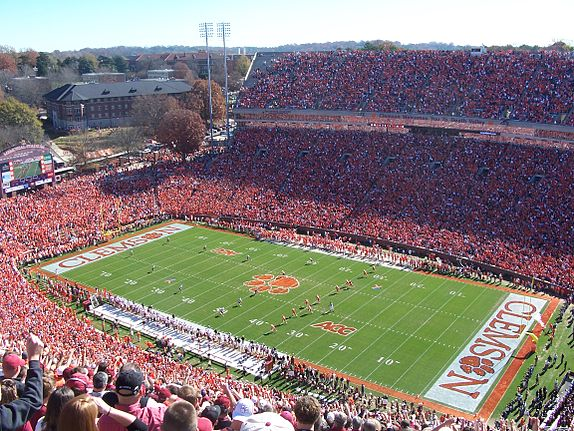 Clemson Memorial Stadium in 2006. ClemsonMemlStadium06.jpg