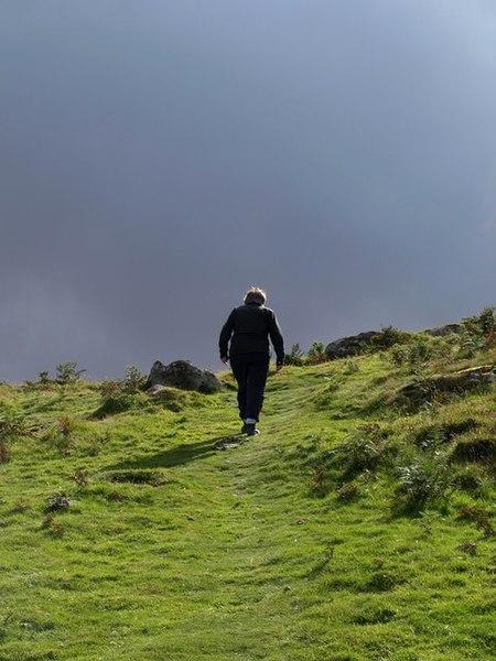 File:Climbing Meldon Hill - geograph.org.uk - 1478803.jpg