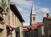 Clocher de l'eglise de Rontalon-Cities and villages in Rhône.JPG