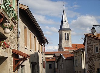 Rontalon - The bell tower of the church in Rontalon