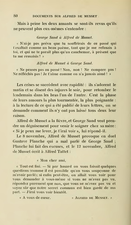 Pageclouard Documents Inédits Sur Alfred De Musset 1900