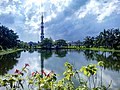Cloudy Sky with Sunshine at Guthia Mosque, Barishal.jpg
