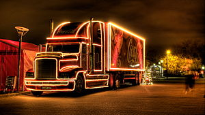English: Coke christmas advertising campaign t...