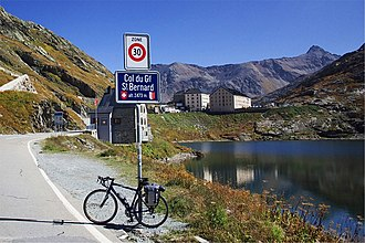 Great St Bernard Pass - View of the pass towards the Italy-Switzerland border