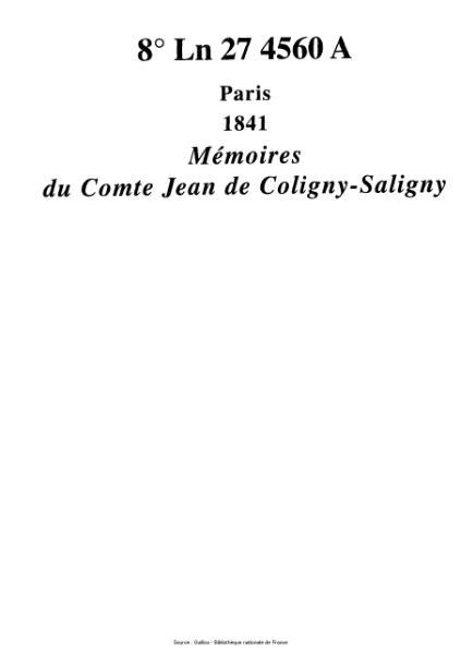 File:Coligny-Saligny - Mémoires.djvu