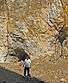Collecting biotite mica & muscovite mica (Ruggles Pegmatite, Devonian; Ruggles Pegmatite Mine, southern New Hampshire, USA) (15669962557).jpg