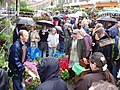 Columbia Road Flower market on a wet Sunday - geograph.org.uk - 172799.jpg