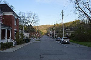 National Register of Historic Places listings in Claiborne County, Tennessee - Image: Colwyn Avenue in Cumberland Gap