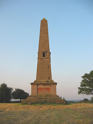 Stapleton Cotton, 1st Viscount Combermere - A memorial obelisk in Combermere Park, near Whitchurch, Shropshire.