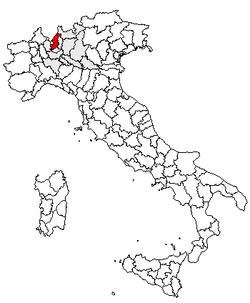 Location of Province of Como