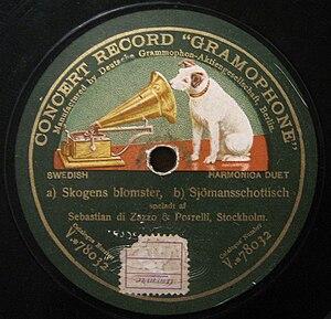 Deutsche Grammophon - Record of Emile Berliner's Deutsche Grammophon Gesellschaft.