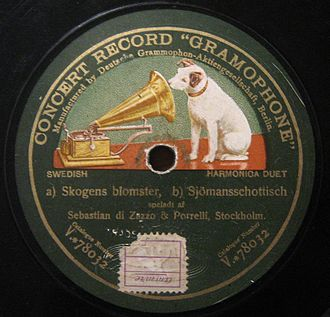 Deutsche Grammophon - Record of Emile Berliner's Deutsche Grammophon Gesellschaft