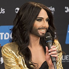 Conchita Wurst, ESC2014 Meet & Greet 08 (crop).jpg