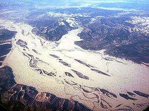 Komsomolsk Nature Reserve - Confluence of the Goryun (top) in the Amur River (main floodplain).  Komsomolsk Zapovednik