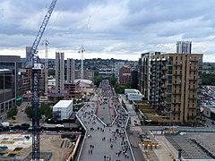 Travaux de construction sur la voie olympique, Wembley - geograph.org.uk - 5444076.jpg
