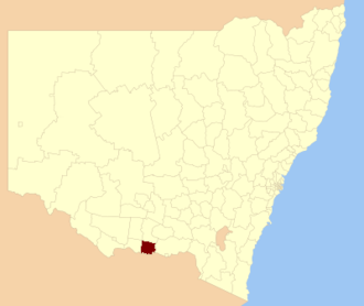 Corowa Shire - Location in New South Wales