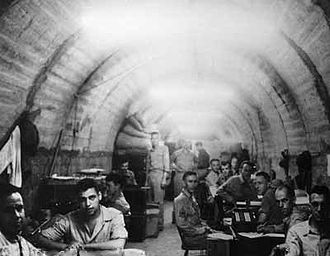 Battle of Corregidor - The Allied command center inside Malinta Tunnel