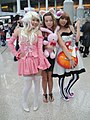 Cosplayers of Chi, Ritsu Tainaka and Yui Hirasawa at Anime Expo 20100702.jpg