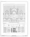 Cover Sheet with Altar Elevation - Gesu Catholic Church, 118 Northeast Second Street, Miami, Miami-Dade County, FL HABS FL-584 (sheet 1 of 10).png