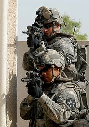 Cpt. J. Dow Covey and Staff Sgt. Justin Evaristo 2nd Infantry Division, Iraq