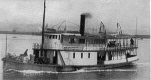 Hale Passage and Wollochet Bay Navigation Company - The steamer Crest later renamed Bay Island.