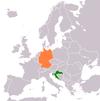 Lage von Deutschland und Kroatien
