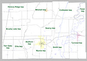 Cross County Arkansas 2010 Township Map large