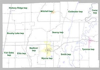 Cross County, Arkansas - Townships in Cross County, Arkansas as of 2010