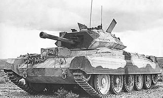 Rolls-Royce Meteor - A Crusader tank, similar to as used in trials