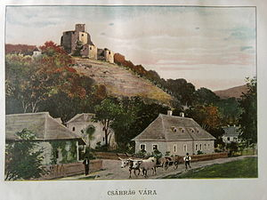 Čabraď Castle - Artist's rendition from 1906