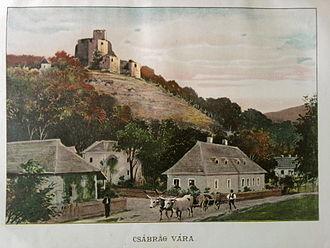 Čabraď Castle - Image: Csábrág Borovszky