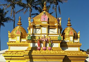 Clairwood Shree Siva Soobramoniar Temple - Gopuram after refurbishment