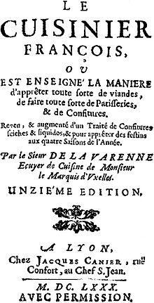 Fran ois pierre la varenne wikipedia for Cuisinier louis 14
