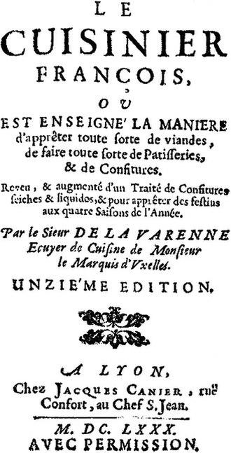 François Pierre La Varenne - The first page of Le cuisinier françois by La Varenne.