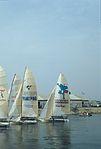 Dériveurs 18 pieds australiens au Salon Nautique International à Flot de La Rochelle 1987 (2).jpg