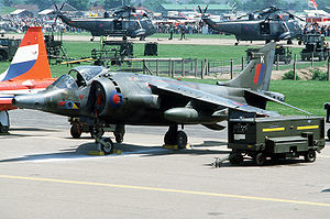 Peter Squire - Harrier, a type flown by Squire during the Falklands War