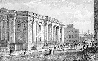 Irish Stock Exchange - The Royal Exchange in 1837