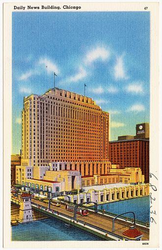 Riverside Plaza (Chicago) - Image: Daily News Building, Chicago (68236)